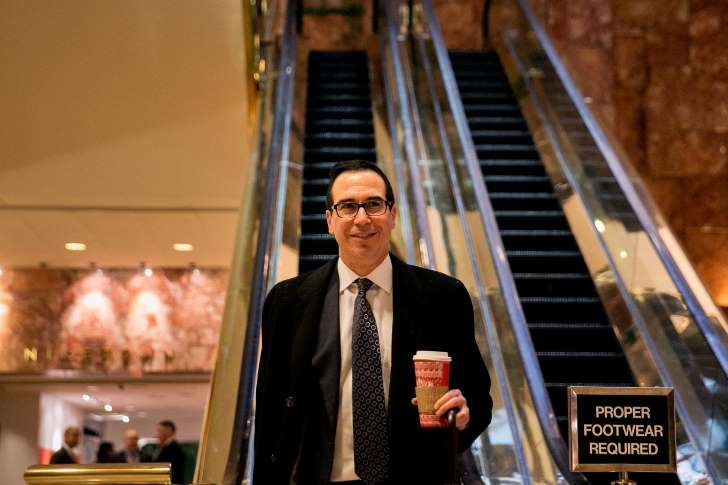 """Steven Terner Mnuchin, a financier with deep roots on Wall Street and in Hollywood but no government experience, is expected to be named Donald J. Trump's Treasury secretary.  Mnuchin was the national finance chairman for Mr. Trump's campaign. He began his career at Goldman Sachs, where he became a partner, before creating his own hedge fund, moving to the West Coast and entering the first rank of movie financiers by bankrolling hits like the """"X-Men"""" franchise and """"Avatar."""""""