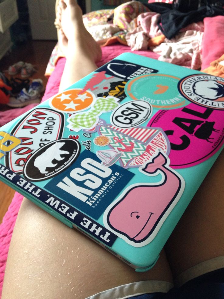 Preppy laptop stickers