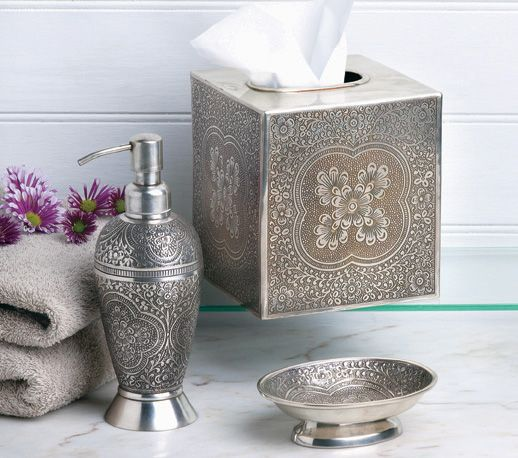 Besides the colorful tiles and patterned fabrics, brass or embossed metal accessories might be found along with intricately ornamented metal work of different types, the key to harmonizing the many elements is scale, along with toned down, naturally derived pigments. The brightest colors in Moroccan decorative patterns are often paired with white or alabaster.