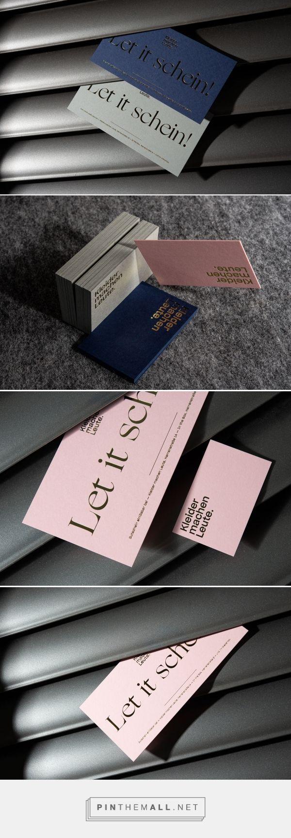 Kleider Machen Leute business cards designed by 101