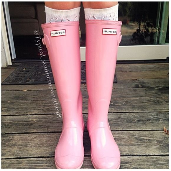 Hunter Boots Boots - Baby Pink Hunters rain boots
