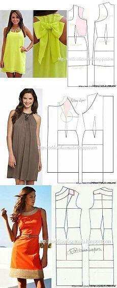 Costurar o verão. Padrões de vestidos, blusas, vestidos de verão. Más