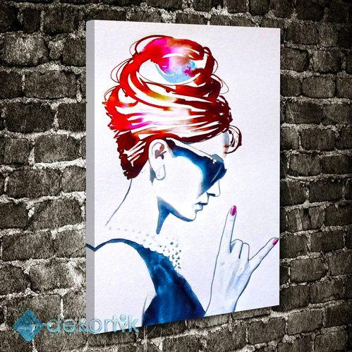 Rocker Woman Tablo #müzik_kanvas_tablo #dans_kanvas_tablo #müzikvedanstabloları