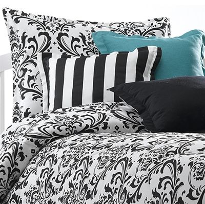 Black U0026 White Damask Bedding Set. This Rich Design Will Add Elegance And  Style To