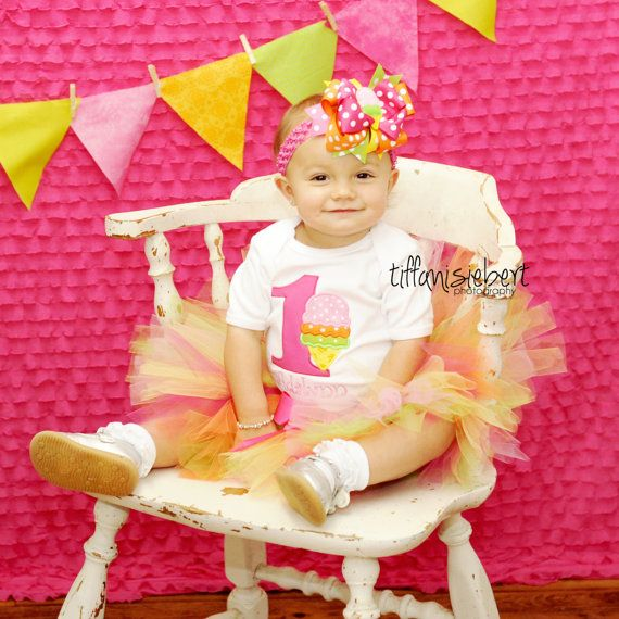 Ice Cream Party Geburtstag Tutu Outfit von TickleMyTutu auf Etsy, $ 54.95   – Ice cream bday party