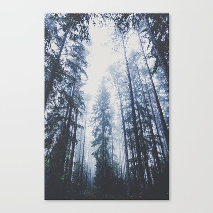 The mighty pines Canvas Print by HappyMelvin. #wallart #nature #wanderlust #forest #canvasprint