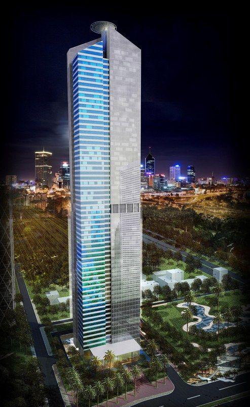 Image of The Cemindo Tower - Menara Rasuna | 310m | 1017ft | 63 fl | U/C | Architect by PT. Sekawan Design Inc Arsitek