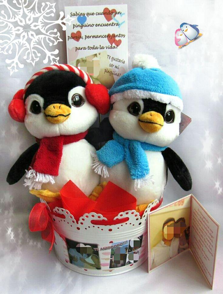 Detalles personalizados - Pingüinos Amorosos