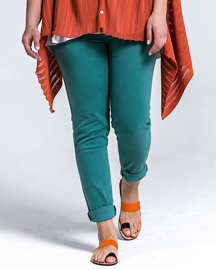 #PlusSize Slim-leg τζιν σε aqua mint απόχρωση   | Για αγορά πατήστε πάνω στην εικόνα