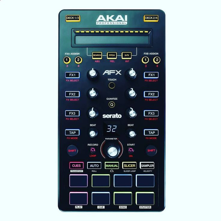 The Akai AFX is also available from #DMCCanada. We are an #authorized #Dealer. Contact us via DM or order via email. Expand your creative performance capability with AFX a versatile 4-deck FX controller for advanced performance using Serato DJ a powerful software platform for digital DJing. A single USB connection adds over 70 intuitive controls to your DJ setup including intelligent touch-activated knobs velocity-sensitive pads and backlit buttons. Trigger samples assign loops and cue...