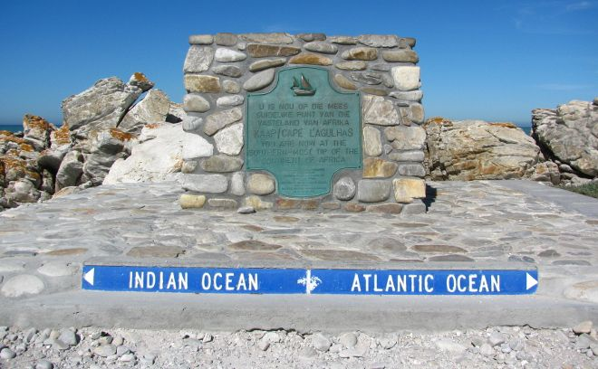 Cape Agulhas - the south in South Africa