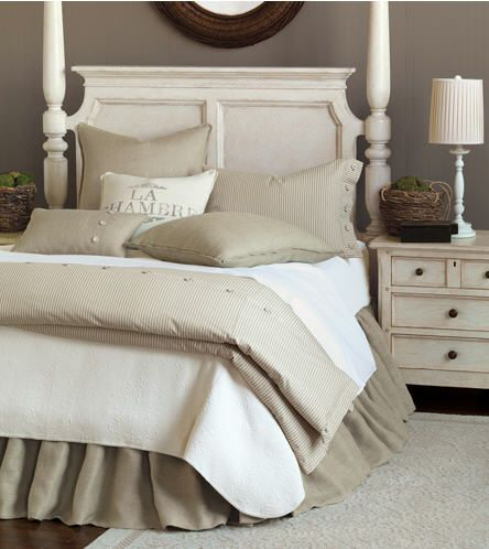 Burlap Bed Skirts & Dust Ruffles. Custom Drop Length.  3 Colors.  http://www.jbrulee.com/pd-burlap-bed-skirts-dust-ruffles.cfm