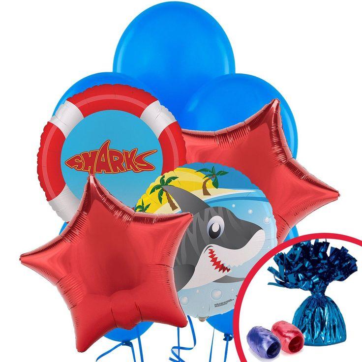 Sharks Balloon Bouquet from BirthdayExpress.com
