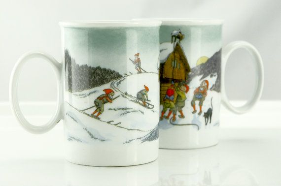 Hey, I found this really awesome Etsy listing at https://www.etsy.com/ca/listing/456426802/porsgrund-mugs-set-of-2-with-people