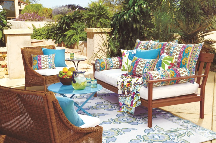 Cost Plus World Marketu0027s Outdoor Cushions And Pillows Offer Summer Style At  The Perfect Price. | Rio Outdoor Collection | Pinterest | More Outdoor  Cushions ...