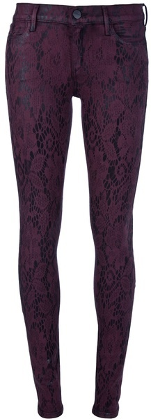 Pearl Lace Print Jeans