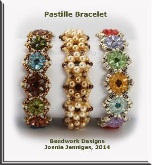 """""""Pastille"""" Bracelet & Earrings ~ Beadwork Designs by Joanie Jenniges"""