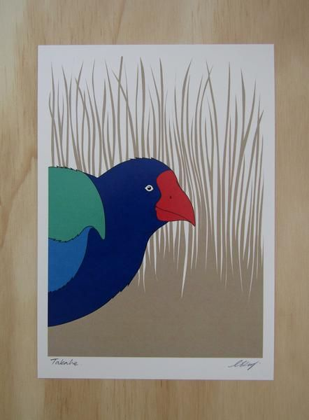 Art Print of the New Zealand Takahe from Hansby Design