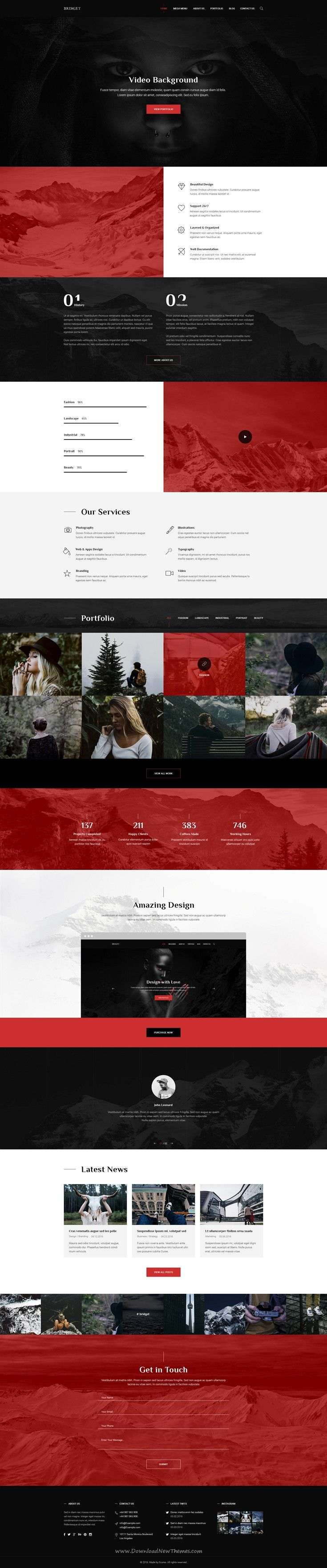 Last is modern and clean PSD template for multipurpose website includes 59 well-organized #PSD files. #smallbiz #webdesign Download Now!