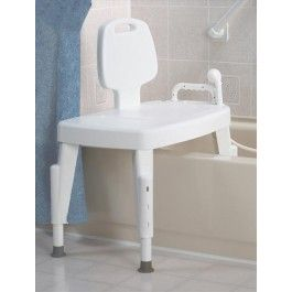 Transfer Bench With Back, Push Buttons - Price ( MSRP: $ 98.39Your Price: $68.89Save up to 30% ). http://www.discountmedicalsupplies.com/store/bath-and-shower-safety/transfer-benches/transfer-bench-w-back.html