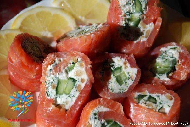Полезные суши - вкуснотища невероятная!  🔸на 100грамм - 187.74 ккал🔸Б/Ж/У - 9.09/14.91/4.35🔸  Все рецепты здесь :👉 https://vk.com/intells_pro #рыба