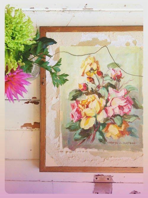 Small Acorns: vintage floral art