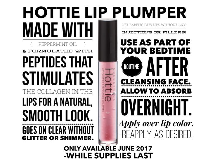 Younique Hottie Lip Plumper naturally creates fuller lips