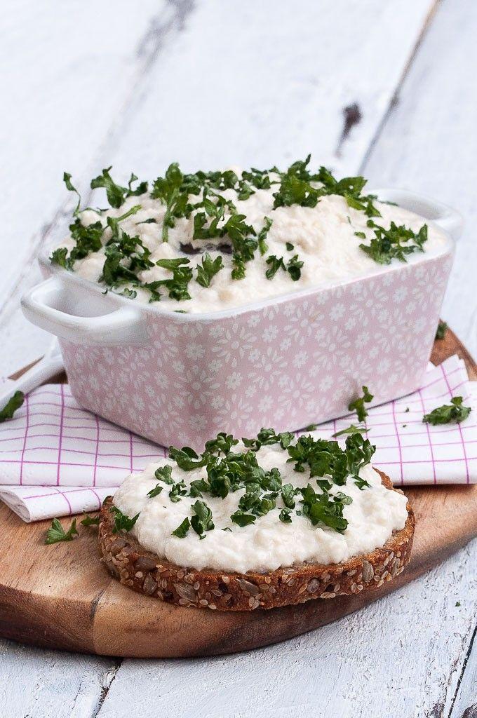 Vegan Cottage Cheese Recipe  VeganFamilyRecipes.com   #glutenfree #appetizer #dip