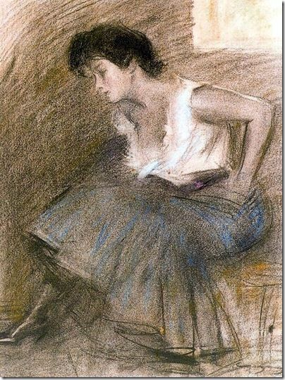 ramon casas i carbo_Julia sentada