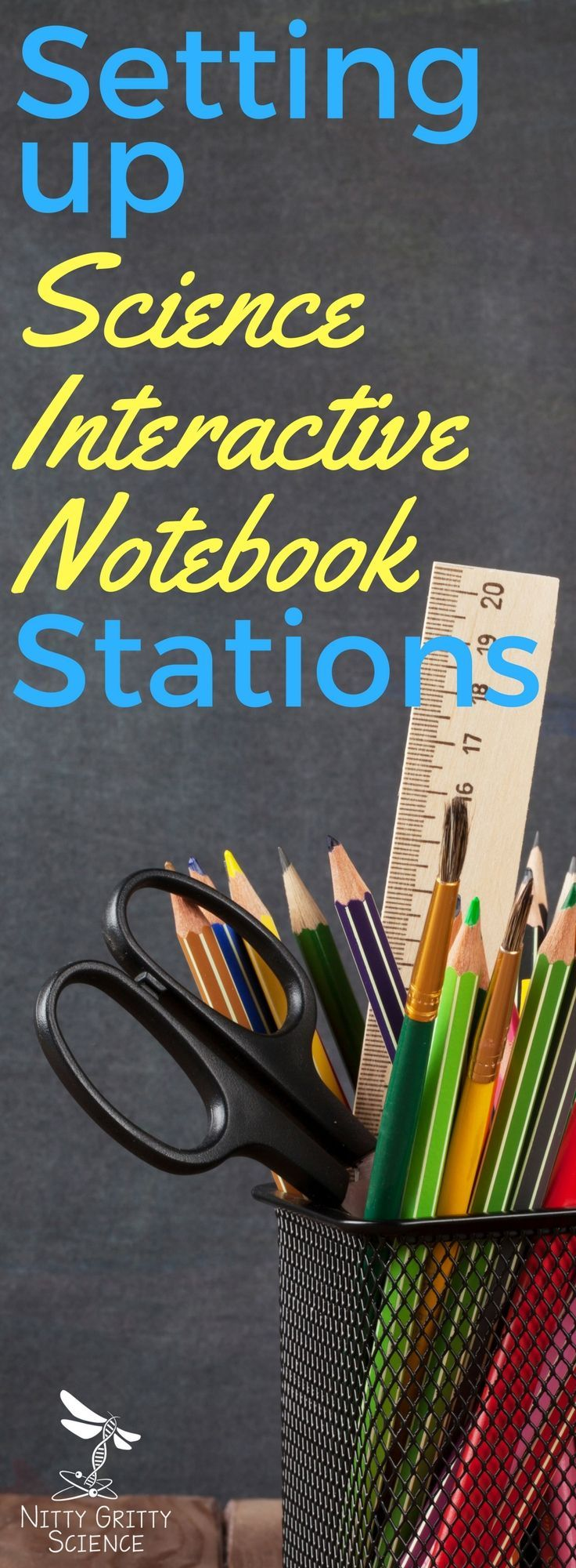 Having organized stations is a sure-fire way to be successful during the school year.  My notebook stations are the same as my lab stations so the students know which station to go to when it's time to work on their notebooks.
