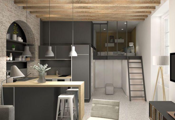 Best 25 tiny studio apartments ideas on pinterest tiny - Decoration interieur appartement ...