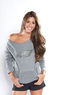 #Eagles Women's Crystal Sideliner Sweatshirt. Bring some glam to the stands!