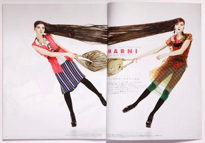 「装苑」2009年5月号  art direction:Yuni Yoshida,photographs:Muga Miyahara,hair:Masayoshi Okudaira(BUBE),model:OLGA