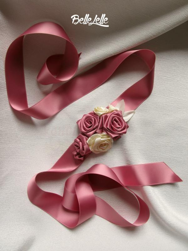 Mályvarózsaszín rózsás díszöv