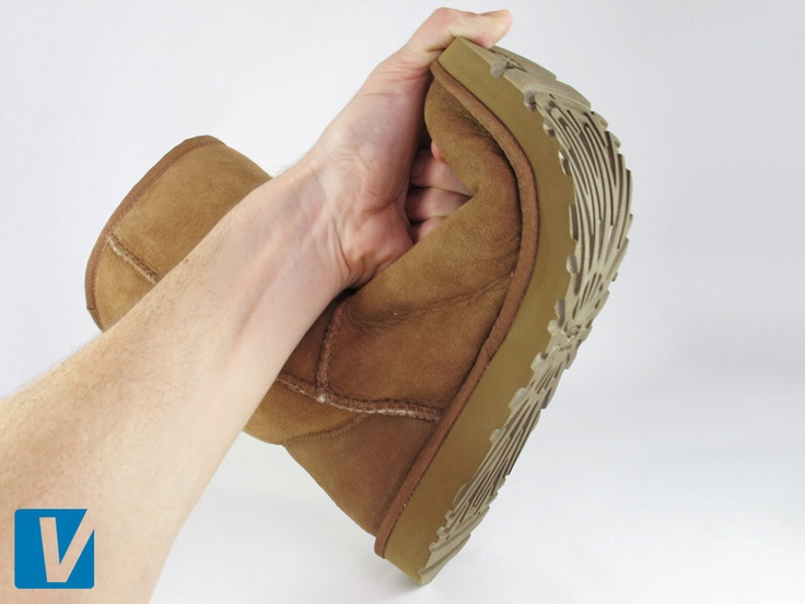 UGG boots have a flexible sole and the seller should demonstrate this to you in this photo.