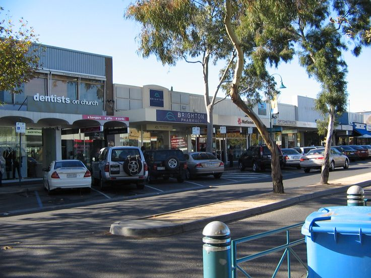 Quaint streets of downtown Brighton Australia