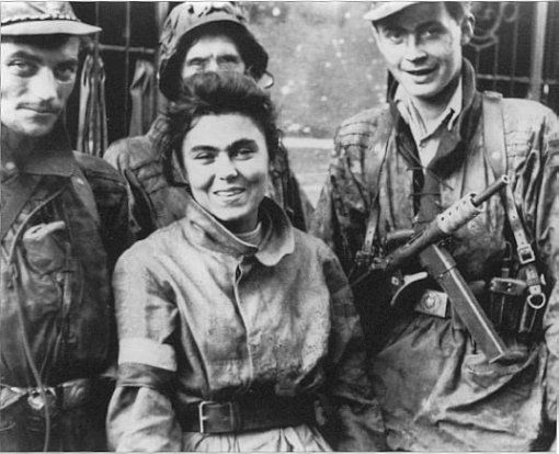 Warsaw Uprising of 1944 - members of the Home Army (Armia Krajowa).    The two-month battle that began on August 1, 1944 was fought on the city's streets, from within its buildings and down in its sewers. It ended tragically for the Polish inhabitants of Warsaw with a staggering loss of life. And to make this catastrophe even worse, Adolf Hitler was so enraged by the Polish people's anti-Nazi revolt that he ordered Warsaw bombed and burned to the ground.