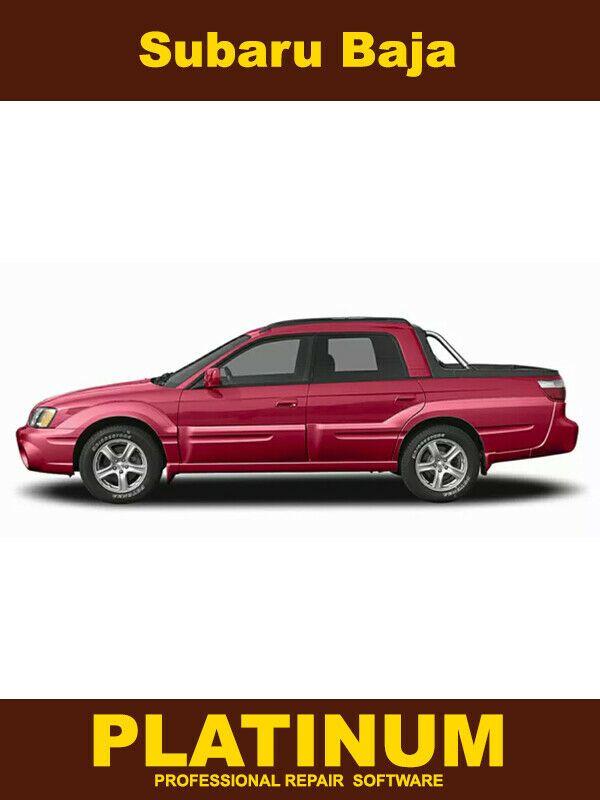 Advertisement Ebay Baja Repair Manual Service Software 2003 2004 2005 2006 Subaru Baja Repair Manuals Subaru