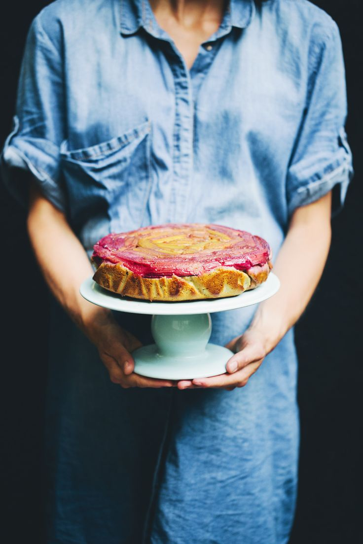 Rhubarb Upside-Down Yogurt Cake