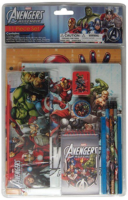 Marvel Avengers Stationery Set, 11-Piece