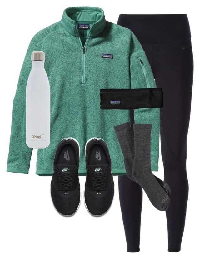 """Day 16 of prep-mas: P is for Patagonia!"" by preppy-101 ❤ liked on Polyvore featuring NIKE, Patagonia and S'well"