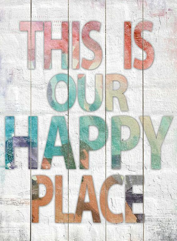 'This Is Our Happy Place' Wood Wall Art