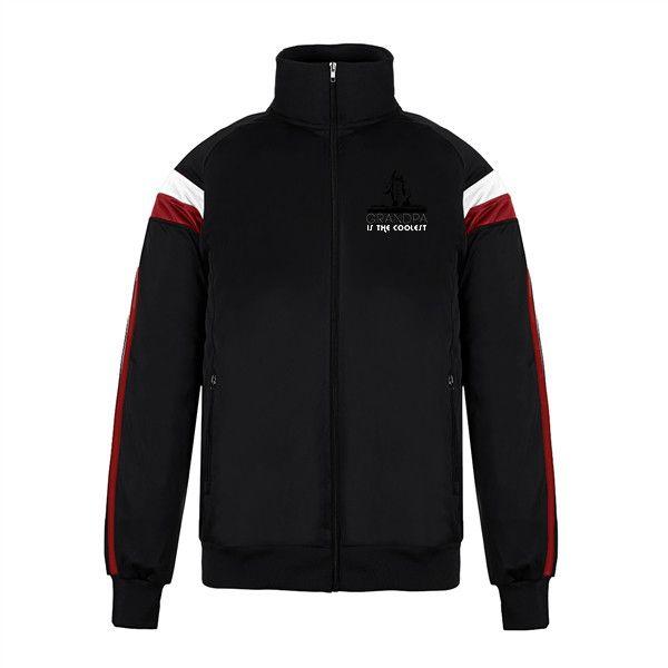 Custom Jacket No Minimum Varsity Track Superdad Men's Big & Tall... (88 BAM) ❤ liked on Polyvore featuring men's fashion, men's clothing, men's activewear, men's activewear jackets, mens activewear, mens track tops and mens track jacket