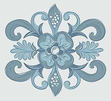 Denim Flower by raymondwarenyc
