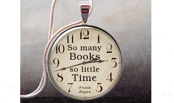 So Many Books, So Little Time pendant, Book lover necklace charm, Book jewelry, Book quote. $8.95, via Etsy.