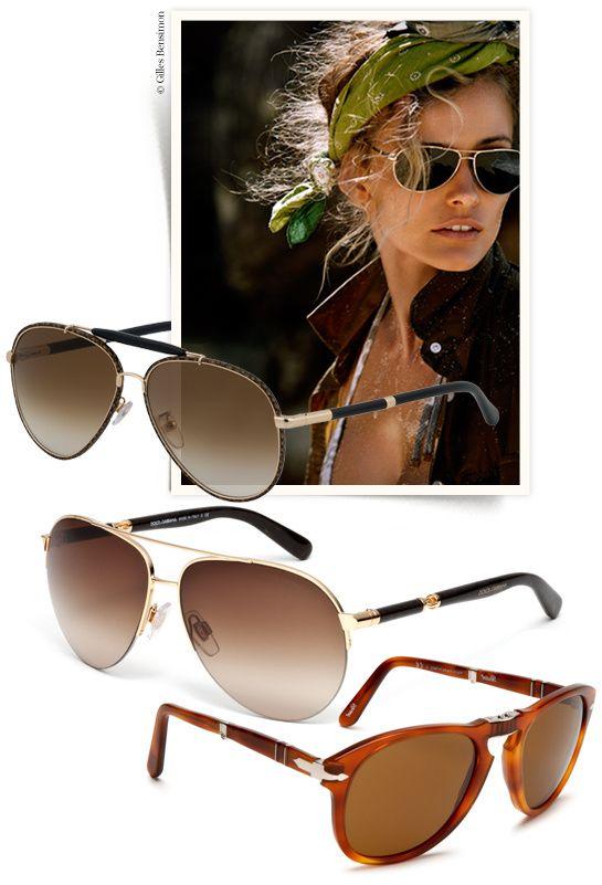 Shopping lunettes de soleil aviateur pilote http://www.vogue.fr/mode/shopping/diaporama/shopping-lunettes-de-soleil-aviateur-pilote/13809