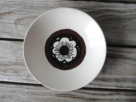 Marimekko Poppy Style Ceramic Dish by GallivantingGirls on Etsy, $16.00