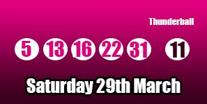 Sadly no jackpot winners on the Saturday's thunderball draw but we did have second tier winners! You can read more including the prize breakdown here: http://thunderballresults.org/thunderball-results-29th-march/ #lottery #thunderball