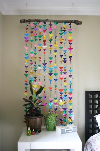 Diy Hanging Triangle Garland Diy Origami Diy Craft Diy