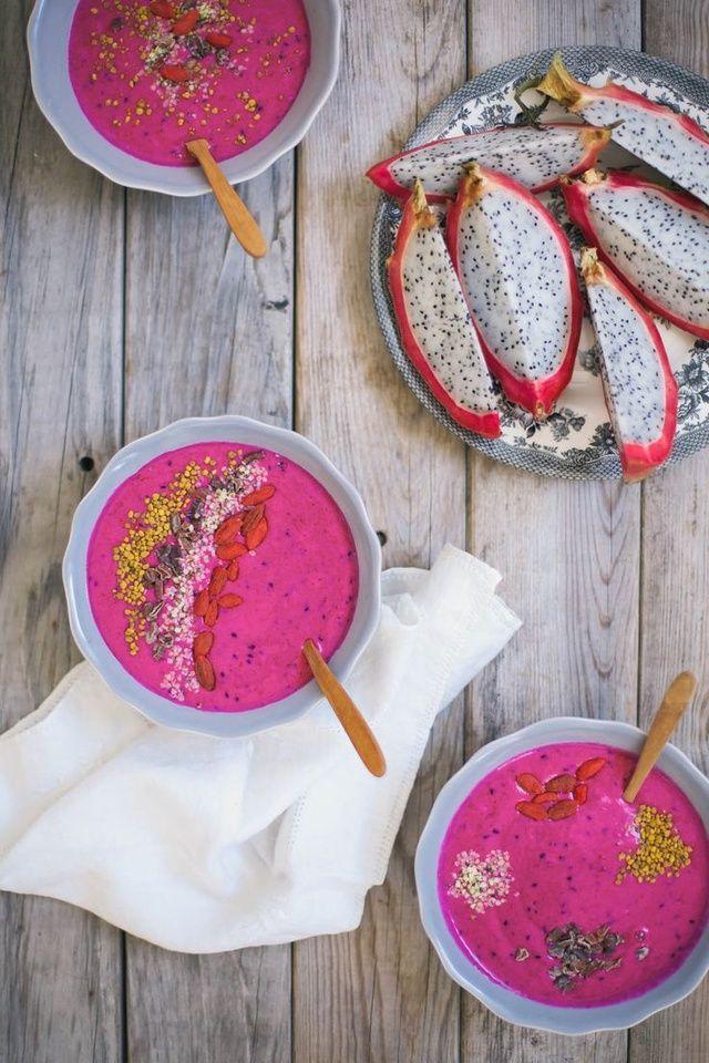 Le  pitaya bowl  pinterest petit dejeuner été